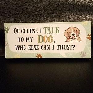 🤑Wooden Dog Sign